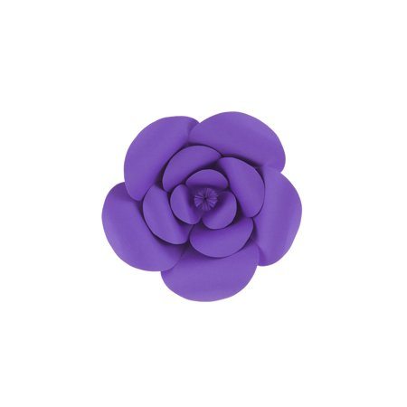 Mega Crafts - 8'' Handmade Paper Flower in Purple | For Home Décor, Wedding Bouquets & Receptions, Event Flower Planning, Table Centerpieces, Backdrop Wall Decoration, Garlands & Parties (Paper Flower Crafts)