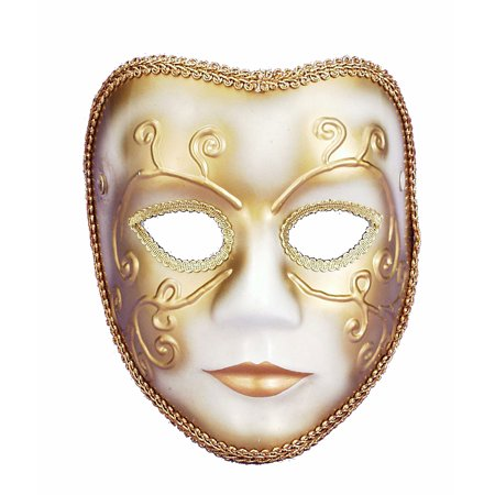 Venetian Happy Face Mardi Gras Mask 56273](Happy Halloween Leather Face)