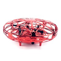 Hand Operated Drone for Kids Hands-Free Mini Drone Helicopter Flying Ball Drones Toys for Boys Girls(Red)