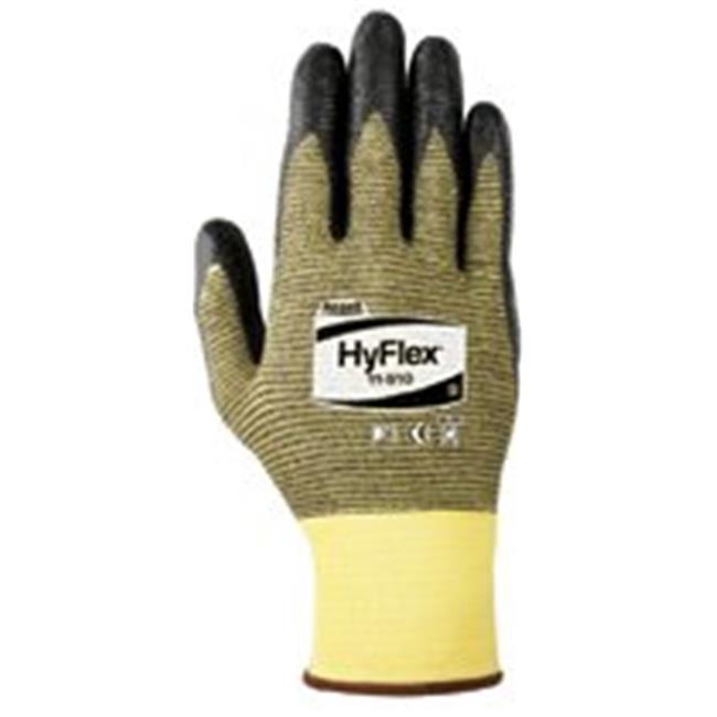 Ansell 012-11-510-9 Hyflex Light Cut Protection Gloves, Size 9, Black