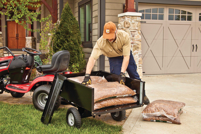 Agri-Fab Inc  350 lb Steel Tow Behind Lawn and Garden Cart - Walmart com