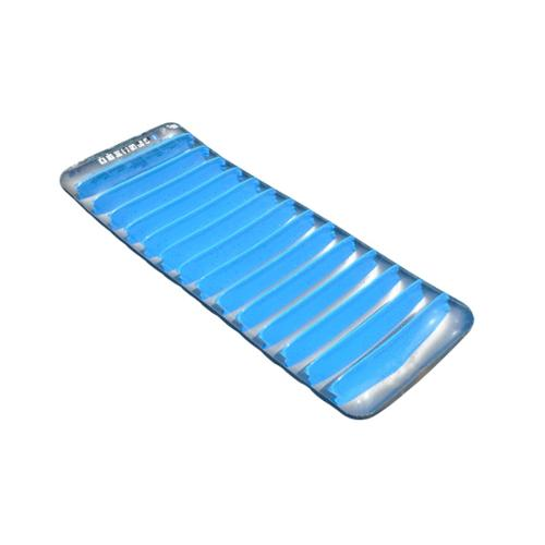"76"" Blue and Gray Inflatable Sun Tanning Swimming Pool Mattress Raft"