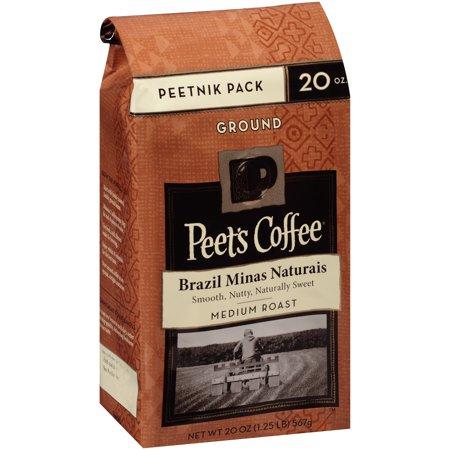 Peet's Coffee Brazil Minas Naturais Medium Roast Ground Coffee, 20 oz