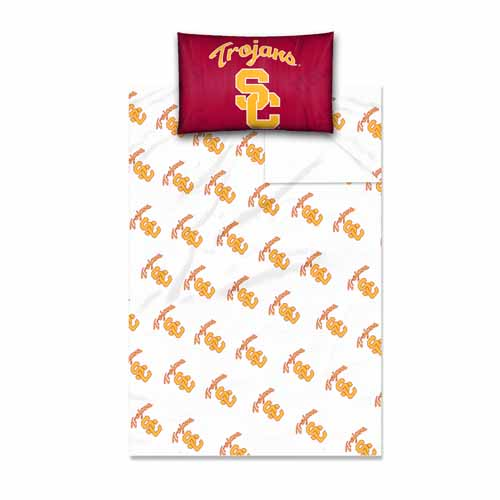 USC Trojans NCAA Twin Sheet Set