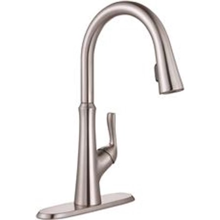 Premier Creswell Single-Handle Concealed Pull-Down Kitchen Faucet, Brushed Nickel