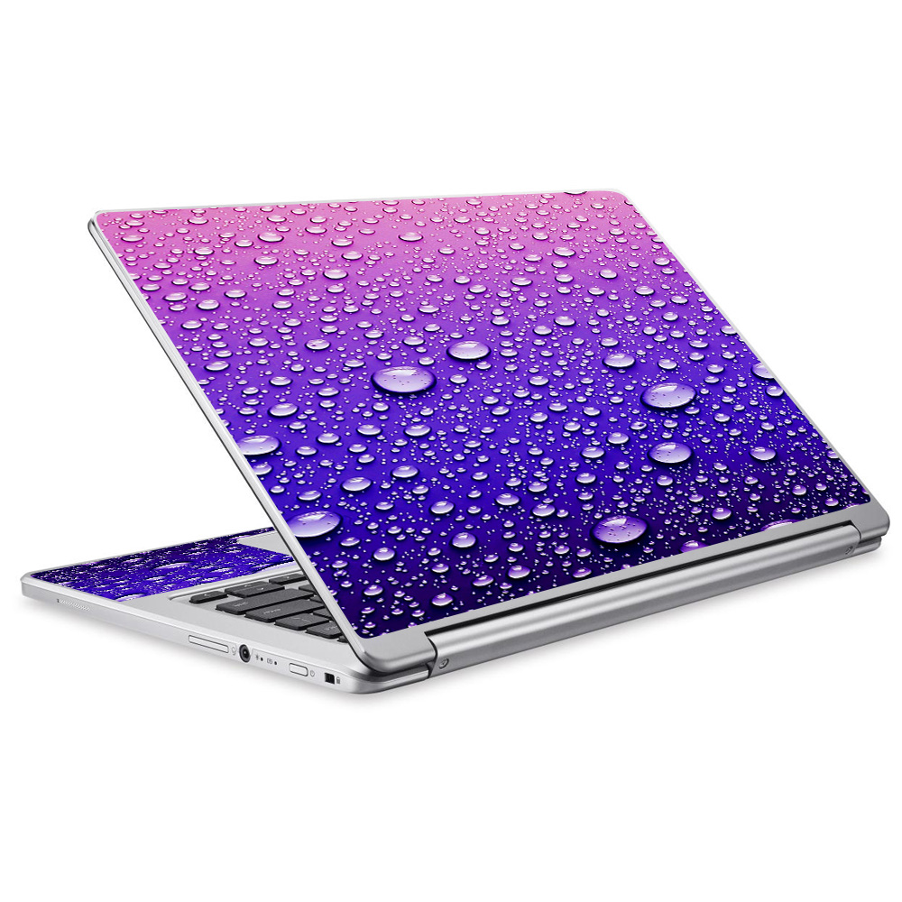 Skins Decals For Acer Chromebook R13 Laptop Vinyl Wrap / Waterdrops On Purple