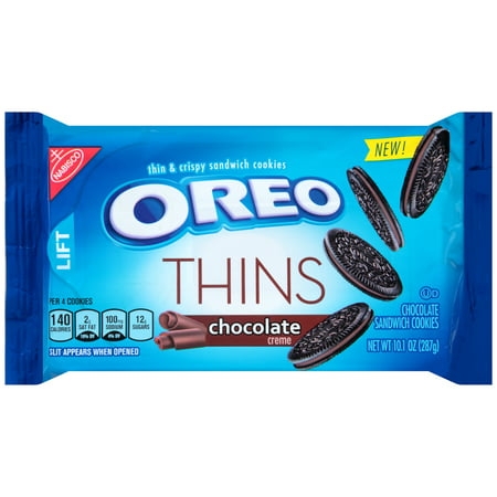Nabisco Oreo Thins Chocolate Creme Sandwich Cookies, 10.1 oz