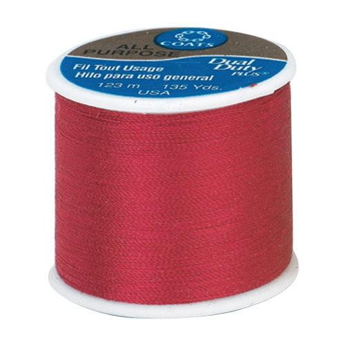 Coats & Clark Dual Duty Plus Thread, 135 yds, Ming Cherry