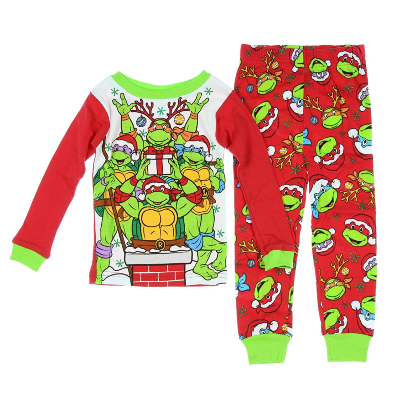 Teenage Mutant Ninja Turtles Baby Toddler Boy Long Sleeve Tight Fit Cotton Pajamas