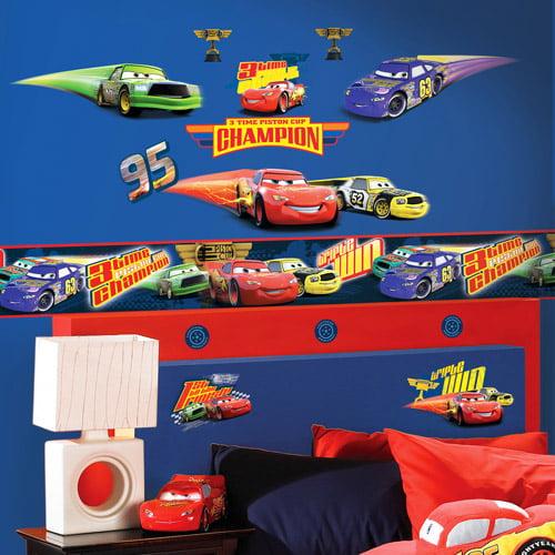 "Disney - Cars 5"" Piston Cup Pit Crew Wall Border"