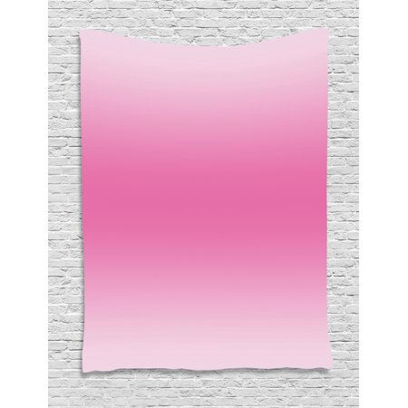 Ombre Tapestry, Medieval Fairytale Style Cotton Candy Inspired Girly Design Digital Modern Artwork Print, Wall Hanging for Bedroom Living Room Dorm Decor, Pink, by Ambesonne Pink Bedroom Decor