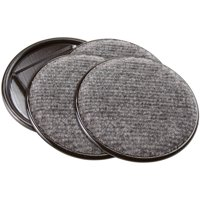 """Waxman Consumer Group 4291195N 4"""" Gray Round Carpet Caster Cups, 4 Count"""