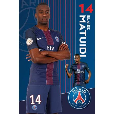 Paris Walnut - Paris Saint Germain - PSG - Soccer Poster / Print (Blaise Matuidi) (Size: 24