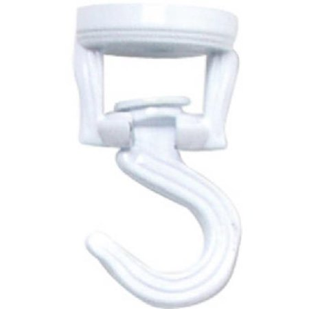 Image of Panacea White Steel 3-9/16 in. H Swivel Swag Hook 1 pk