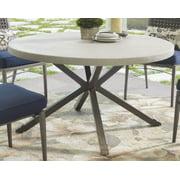 Round Concrete Stone Top Table