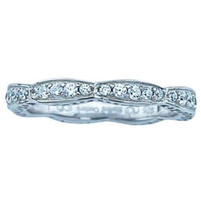 Plutus kkR7022A Nadine Sterling Silver 0.4 CT TGW Cubic Zirconia Bridal Wedding Band - image 1 de 1