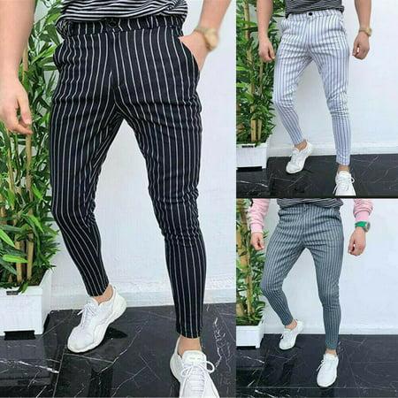 SUNSIOM Men Casual Slim Fit Skinny Business Formal Suit Dress Pants Slacks Trousers Slim Fit Suit Trousers