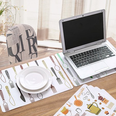 Waterproof Table Mat Plastic Heat-Resistant Pad Creative Printed Place Mat - image 5 of 7