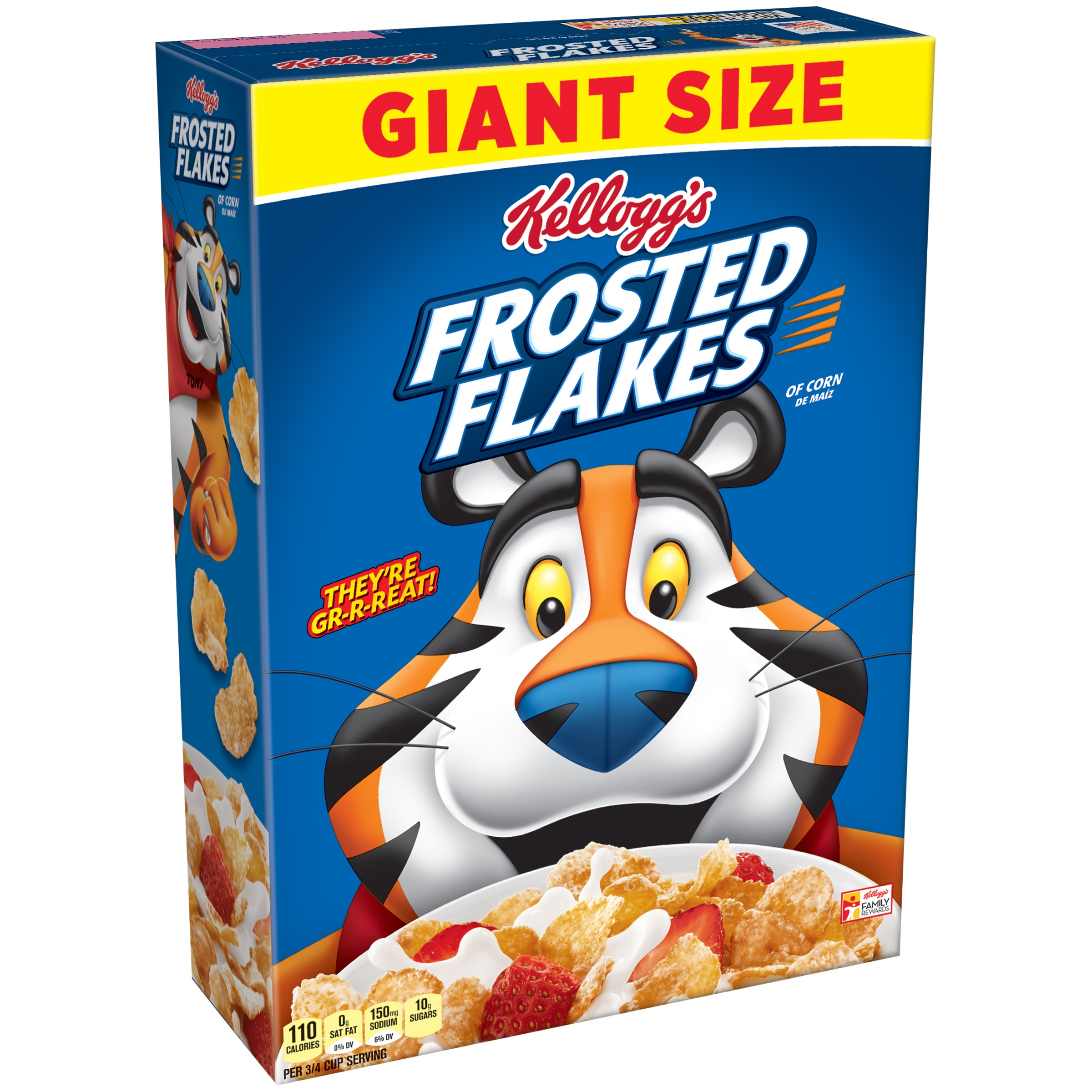 Kellogg's Frosted Flakes Breakfast Cereal, Original, 33 Oz