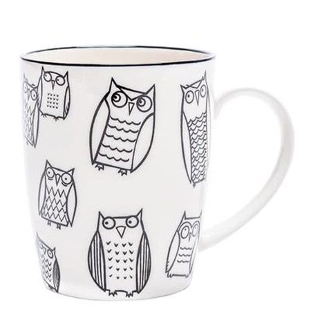 Torre & Tagus Kiri Porcelain Mug - Owl Outline
