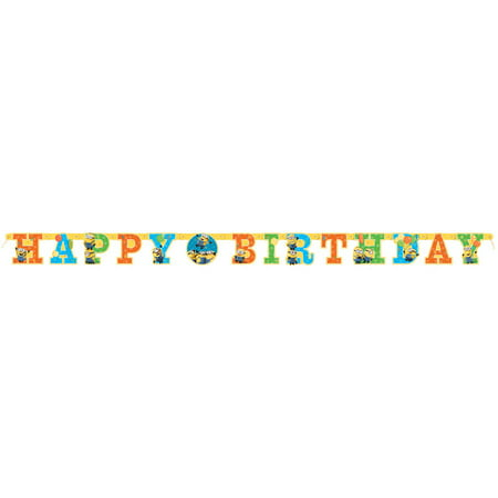 Despicable Me Minions Birthday Banner, 6ft](Minion Birthday Decorations)