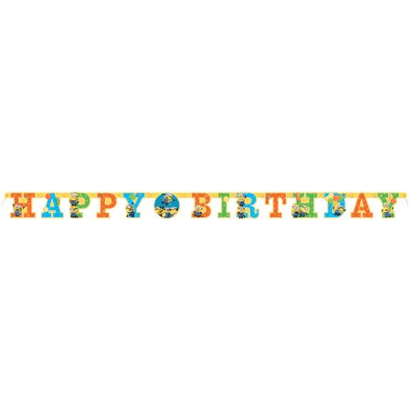 Despicable Me Minions Birthday Banner, 6ft - Curious George Birthday Banner