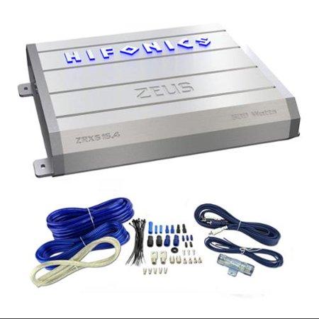 Hifonics ZEUS ZRX616.4 600W 4 Channel Car Amplifier Amp ZRX6164 + Wiring Kit