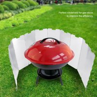OTVIAP Windshield for BBQ, Windshield for Cooking Gas Stove,10pcs Foldable Burner Windshield for Outdoor Camping Picnic BBQ Cooking Gas Stove