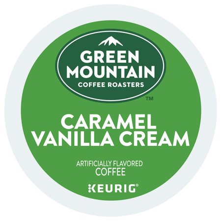Green Mountain Coffee Roasters Caramel Vanilla Cream Coffee Keurig K-Cup Pods, 18 Count