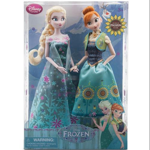 Disney Frozen Fever Anna and Elsa Dolls Summer Solstice Gift Set 12''