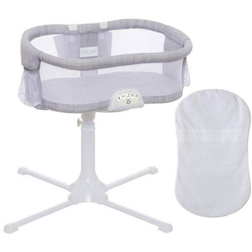 Halo Swivel Sleeper Bassinet Luxe PLUS Series Gray Melange with 100 Cotto by HALO