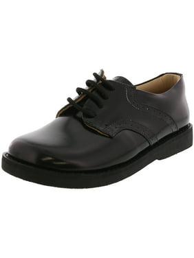 Elephantito Boy's Scholar Golfers Black Ankle-High Leather Oxford Shoe - 11M