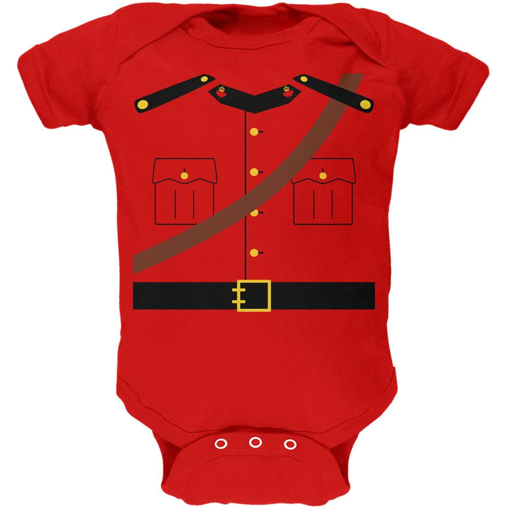 Halloween Canadian Mounty Police Costume Soft Baby One Piece