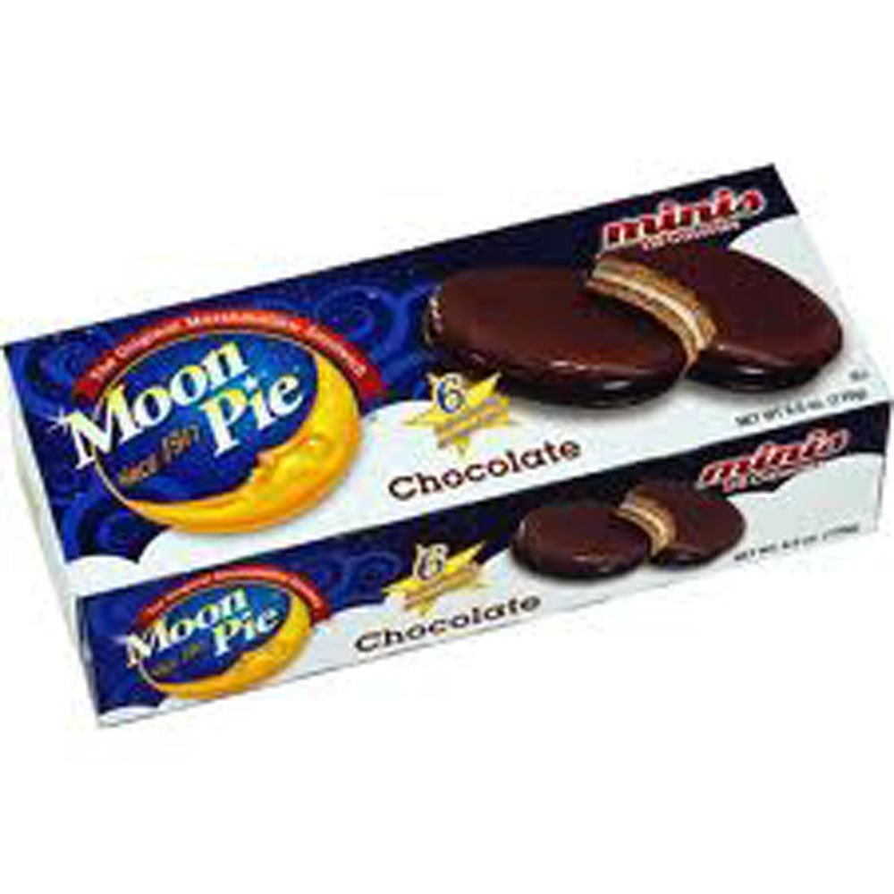 12 PACKS : Moon Pie Minis Chocolate Marshmallow Sandwich 110 Calories - 2 Packages