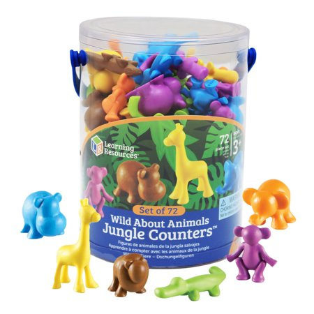 Learning Resources Wild About Animals, Jungle Counters - Learning About Jungle Animals