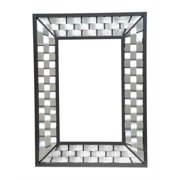 Rushton Large Galvanized Wall Mirror (Natural Black)