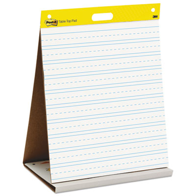 Self Stick Tabletop Easel Ruled Pad, Command Strips, 20 x 23, White, 20 Shts/Pad, Sold as 1 Pad, 20 Sheet per Pad