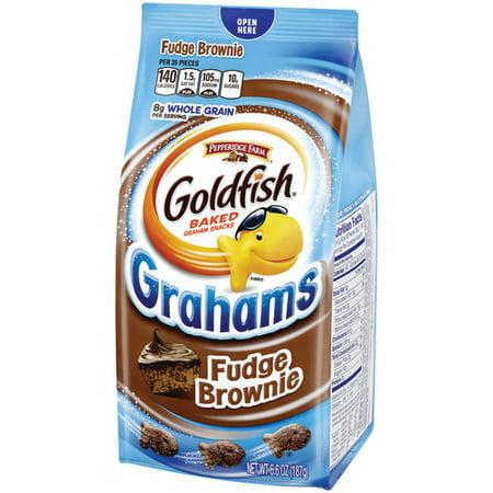 Pepperidge Farm Goldfish Grahams Fudge Brownie Crackers, 6.6 oz. Bag (Barnum's Animal Crackers Bulk)