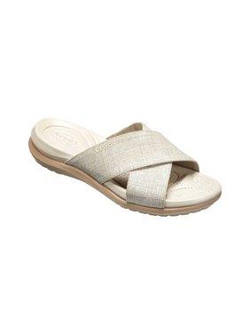 2f235225e4fb Product Image Women s Crocs Capri Shimmer Cross-Band Slide