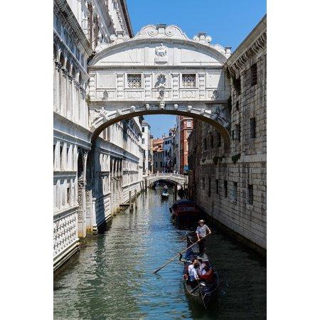 Laminated Poster Venice Sighs Water Gondola Italian Bridge Poster Print 11 x 17 (Italian Gondola Driver)