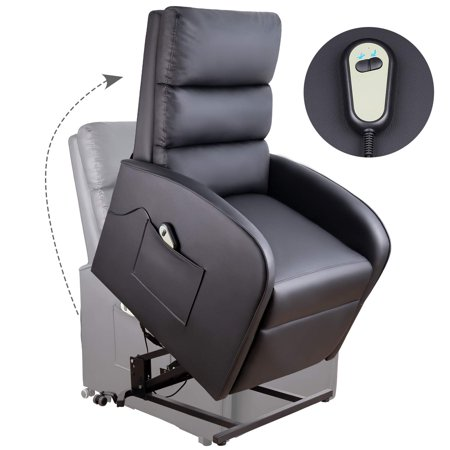 Awesome Walnew Power Lift Recliner Chair With Remote Control And Pocketblack Creativecarmelina Interior Chair Design Creativecarmelinacom