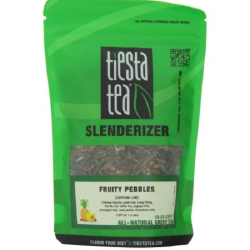 Tiesta Tea Slenderizer Green Tea  Fruity Pebbles  Case of 6  1.6 oz.
