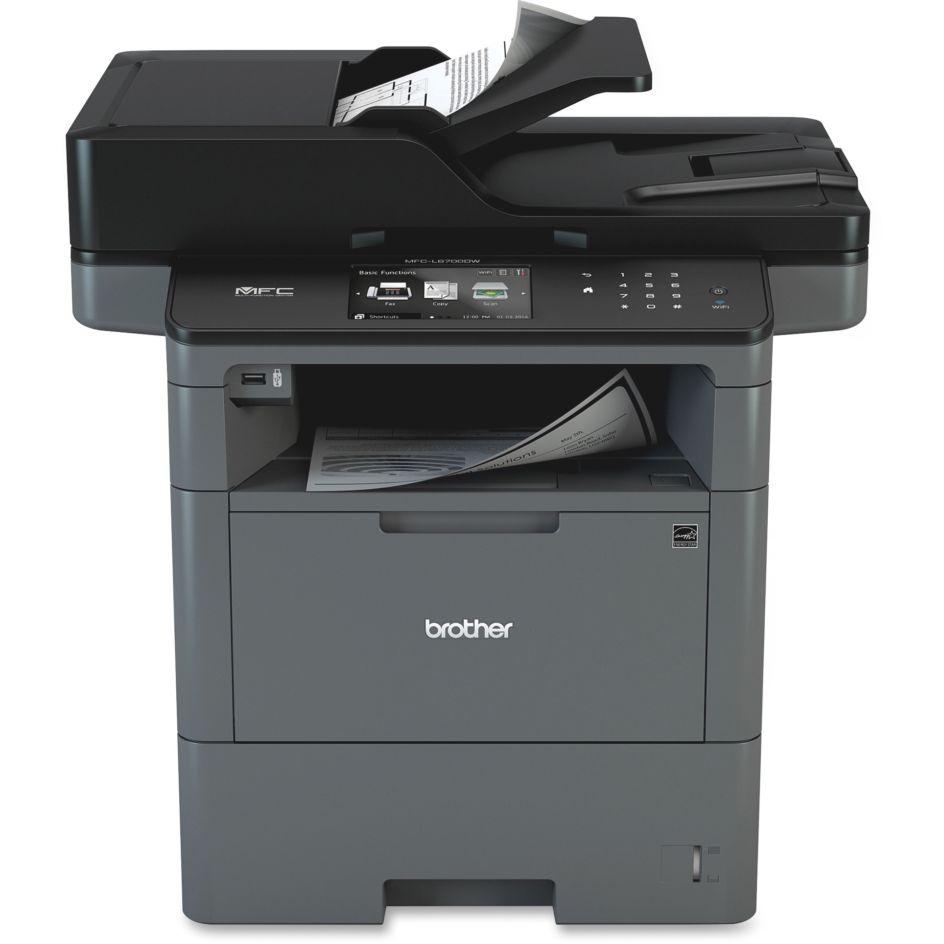 Brother MFC-L6700DW Laser Multifunction Printer Monochrome Duplex by Brother
