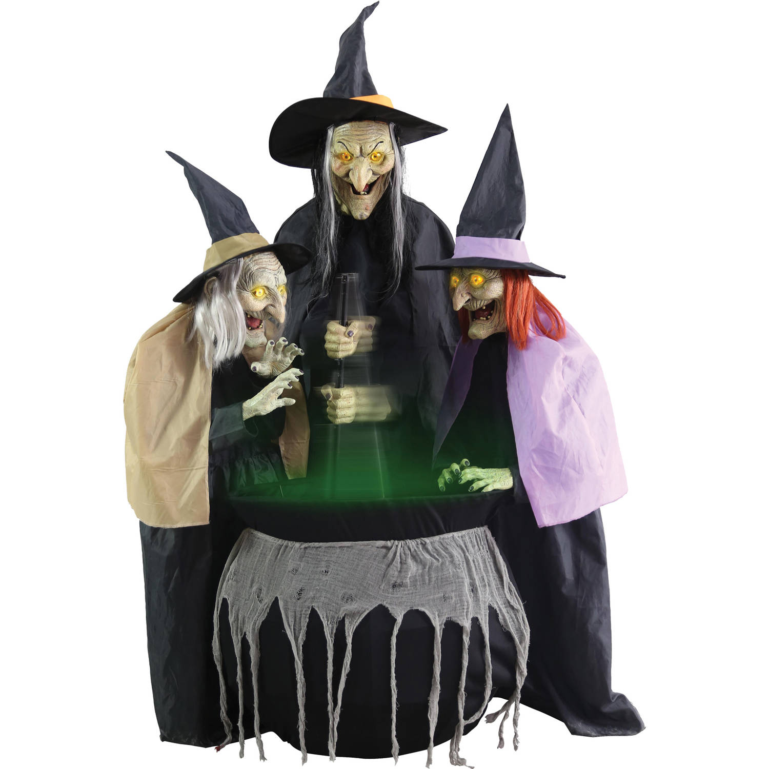 Stitch Witch Sisters Animated Halloween Decoration
