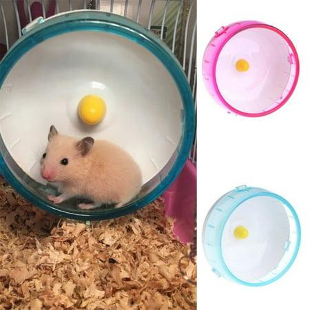 Plastic Rat Hamster Mouse Exercise Toys Silent Running Spinner Wheel Roller Pet Toy
