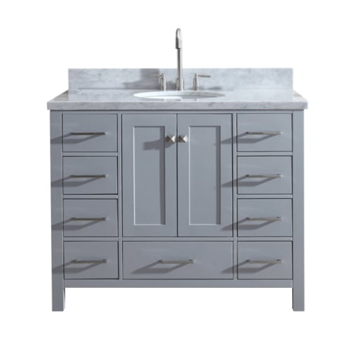 "Ariel A043S-VO Cambridge 43"" Floor Mounted Single Basin Vanity Set with Wood Cab"