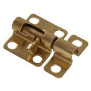 """2"""" Solid Brass Mini Barrel Bolt - Bright Brass Finish 1-Pack Hillman Doorknobs"""