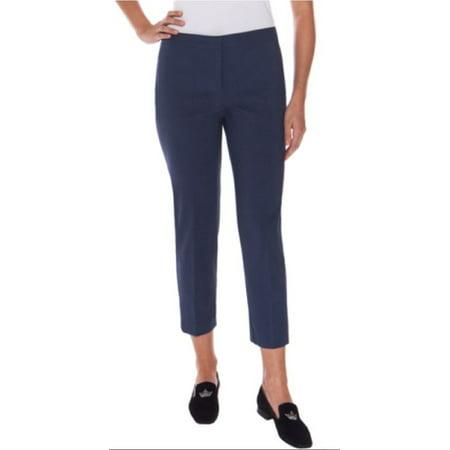 Stretch Medallion (Mario Serrani Womens Comfort Stretch Slim Fit Pants (Navy Medallion, 4x30) )