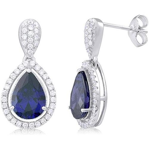 Doma Jewellery SSEZ711B Sterling Silver Earrings With Cubic Zirconia, 5.0g.