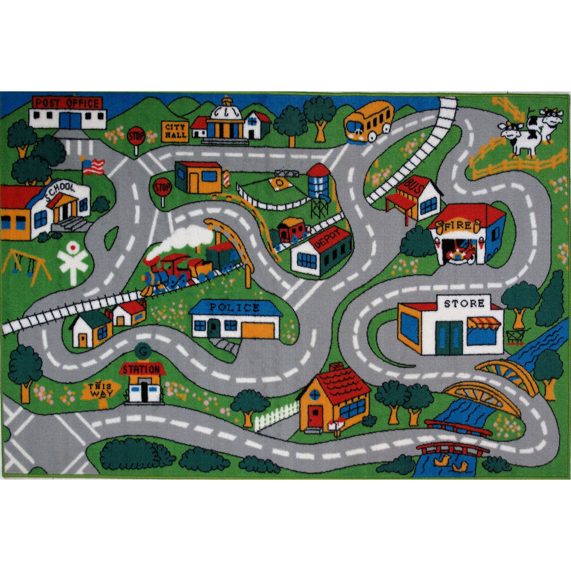 Fun Rugs Children s Fun Time Collection Country Fun Walmart